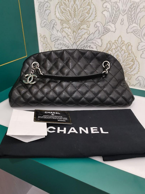 #17 Chanel mademoiselle bag Black Caviar with SHW