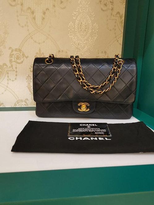 #5 Excellent Chanel Vintage Classic Double Flap Black Lamb GHW