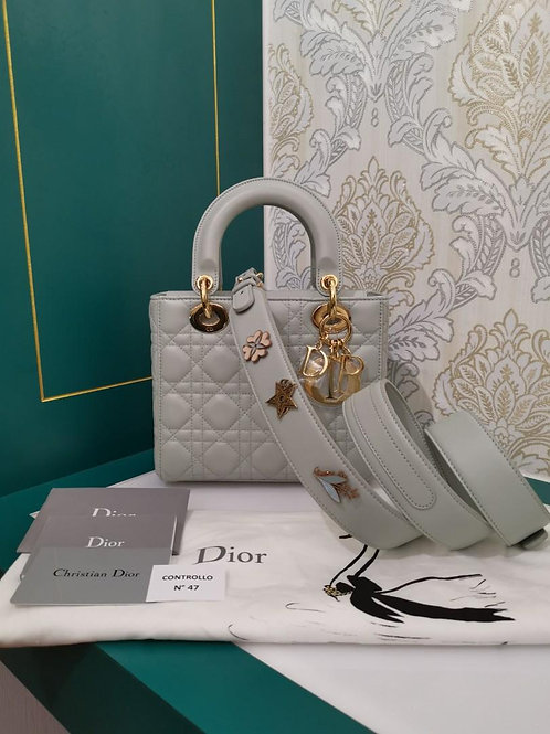 Brand New ABC Dior Lady Dior Small Pistachio Green Lamb with GHW