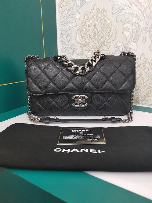 #21 Like New Chanel Perfect Edge Medium Black Calf RHW