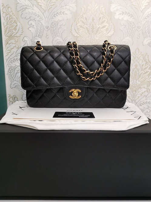 #25 LNIB Chanel Medium Classic Double Flap Black Caviar GHW