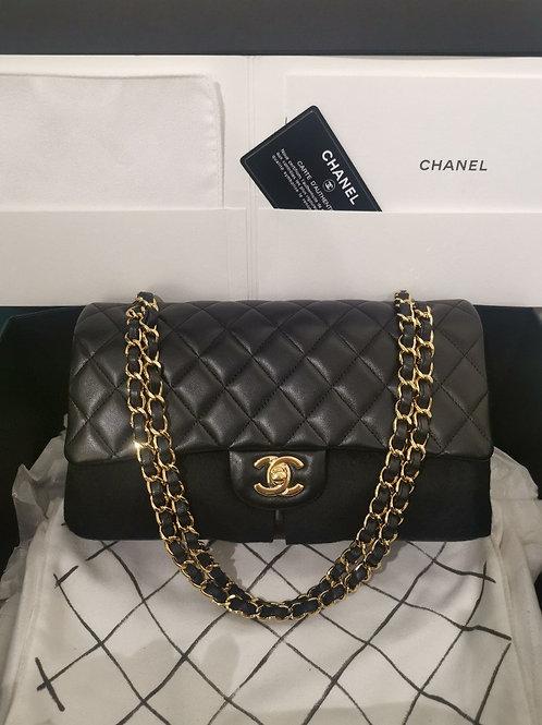 #19 BNIB Chanel Classic Double Flap Medium Black Lamb with GHW