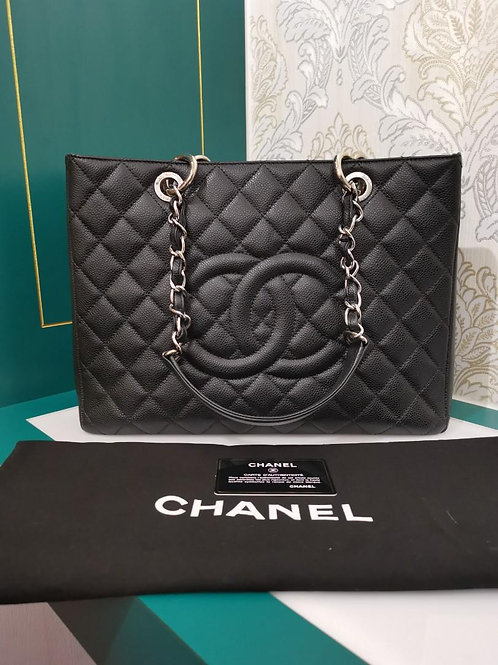 #16 Almost New Chanel GST black Caviar with GHW