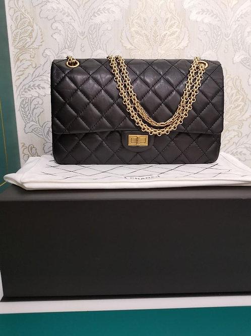 #23 LNIB Chanel reissue 2.55 226 Black distressed Calf with GHW