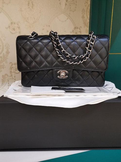 #29 LNIB Chanel Medium Classic Double Flap Black Caviar SHW