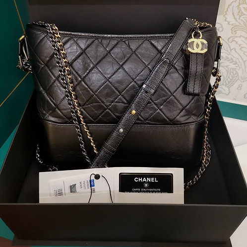 #25 BNIB Chanel Gabrielle Medium Black Calf with 3HW
