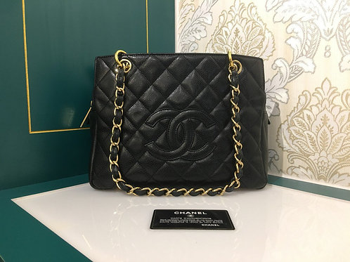 Chanel PTT Petite Timeless Tote Black Caviar with GHW
