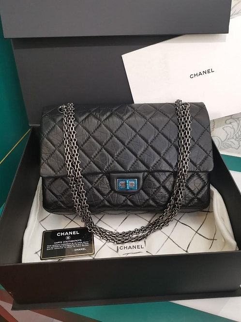 #18 BNIB Chanel 2.55 Reissue 226 Black distressed calf with RHW