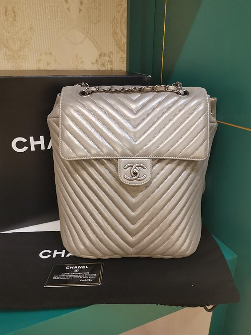 #22 BNIB Chanel Urban Spirit Backpack Small Metallized Calf (Cash S$4,700)