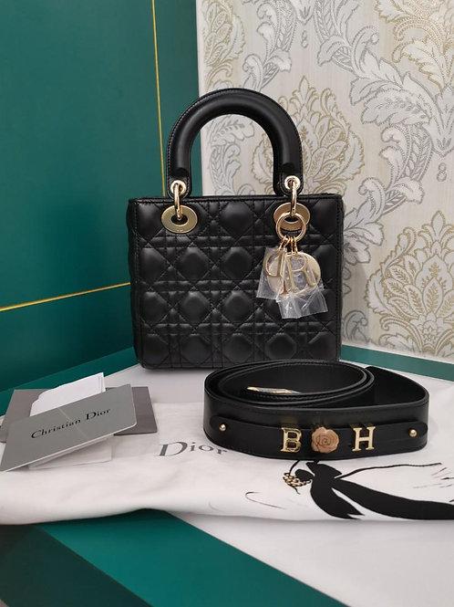 Brand New My ABCDior Lady Dior Small Black Lamb light GHW