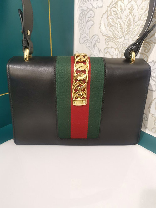 Gucci Sylvie Black Small with GHW