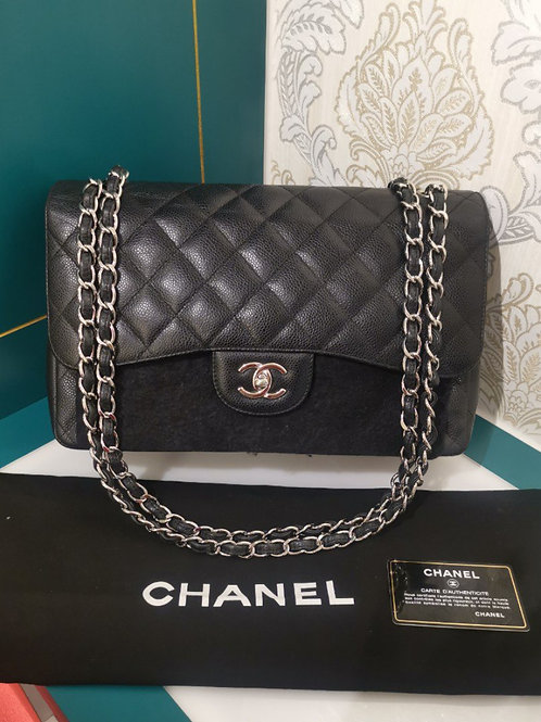 Chanel Jumbo Classic Double Flap Caviar Black with SHW