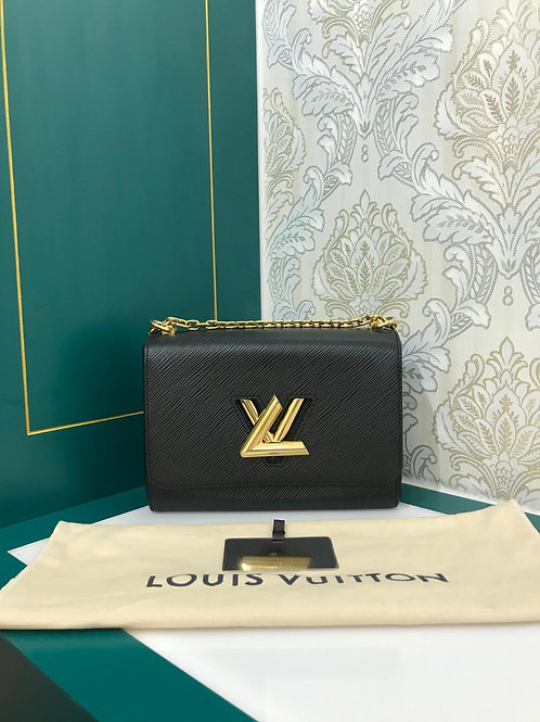 Like New LV Twist MM black with GHW