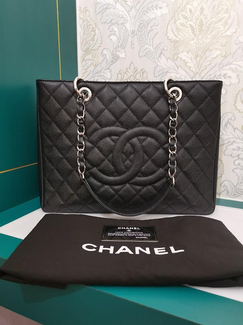 #17 Almost New Chanel GST Black Caviar with SHW