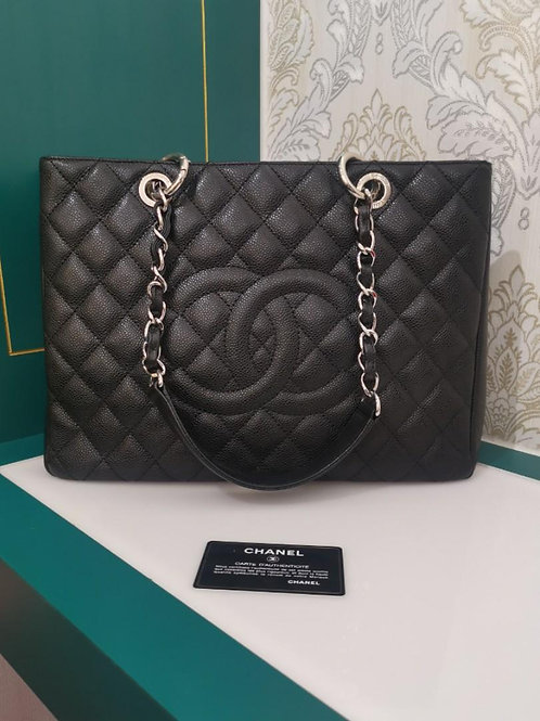 #13 Excellent Chanel GST Black Caviar with SHW