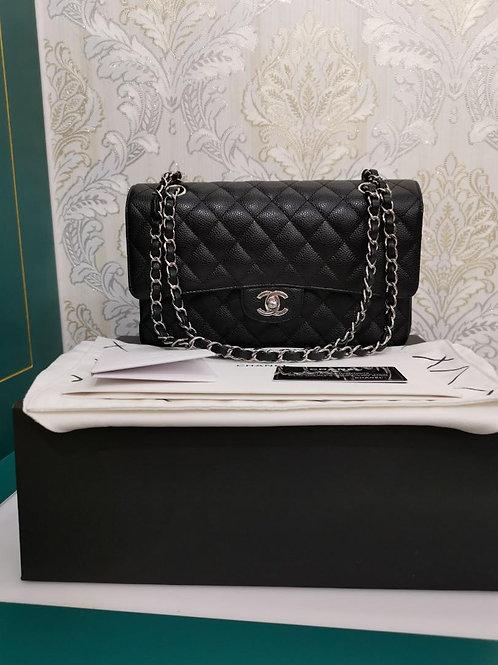 #29 BNIB Chanel Medium Classic Double Flap Black Caviar with SHW