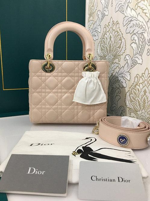 Brand new Lady Dior Small Sakura Pink Lamb witu GHW