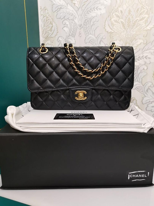 #20 LNIB Chanel Classic Flap Medium Caviar Black with GHW