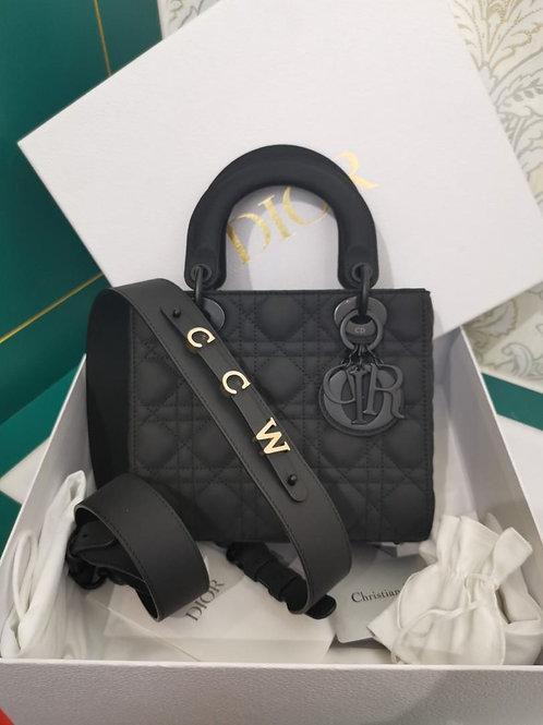 LNIB Lady Dior My ABCDior Black Ultramatte Calf