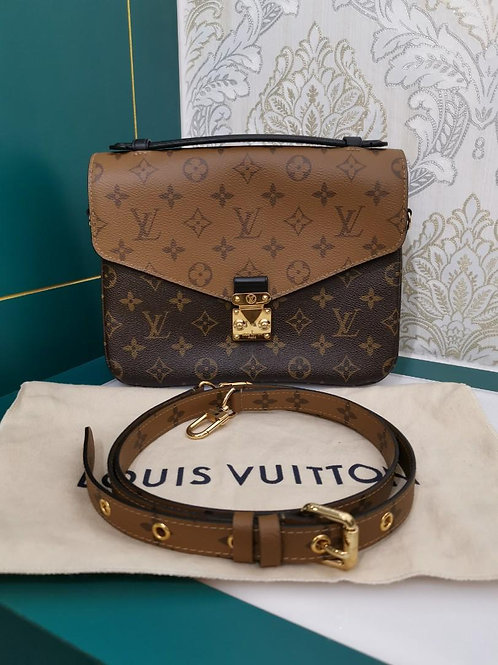 Like New Louis Vuitton Pochette Metis Reverse Monogram