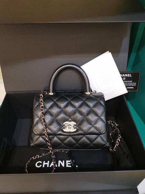 #30 BNIB Chanel coco Handle Mini/extra mini Caviar Light GHW