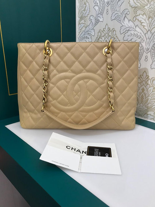 #16 Chanel GST Beige with GHW