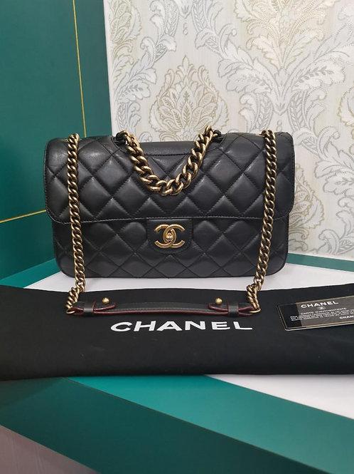 #16 Chanel Perfect Edge Large/jumbo Black Calf GHW