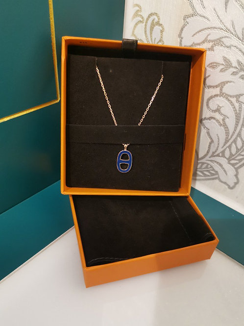 BNIB Hermes Iliade Necklace Marine Gold Plated