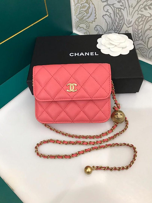 Bidding for #30 BNIB Chanel Clutch with Chain Pink Lamb GHW