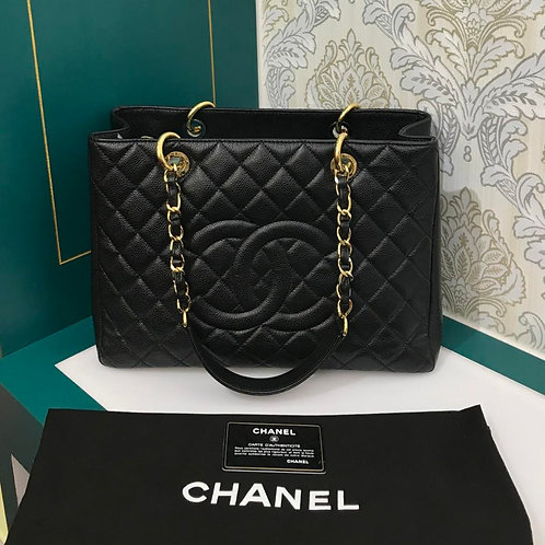#17 Like New Chanel GST Black Caviar with GHW