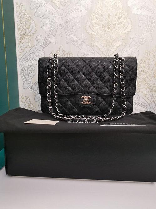 #14 LNIB Chanel Medium Classic Double Flap Black Caviar with SHW