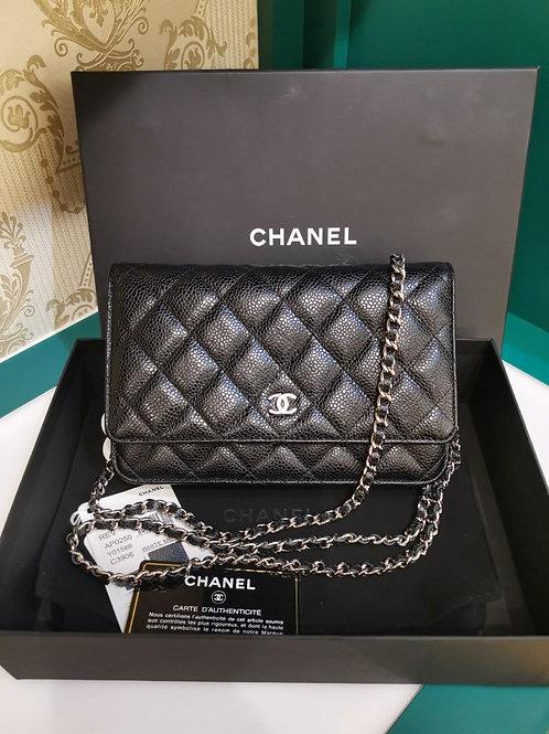 #28 LNIB Chanel Woc Black Caviar SHW (Cash S$3,550)