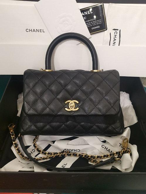 #24 BNIB Chanel Coco Handle Mini/Small Black Caviar with GHW