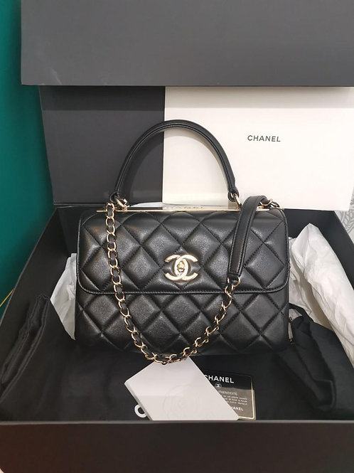 #27 Chanel Trendy CC Small Black Lamb GHW
