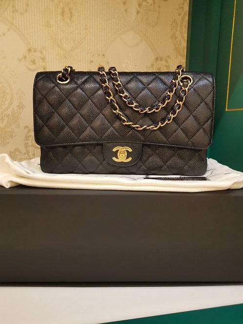 #16 LNIB Chanel Medium Classic Double Flap Black Caviar GHW (Cash S$9,200)
