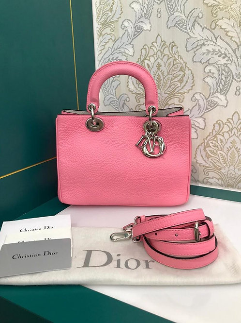 like new Dior Diorissimo Vip bag Pink S Grained Calf SHW