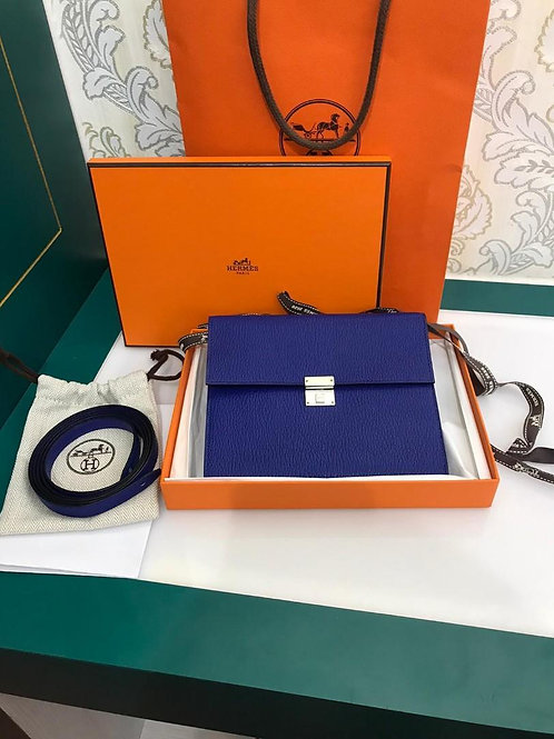 BNIB Hermes Clic 16 Wallet Blue Elect Goatskin PHW