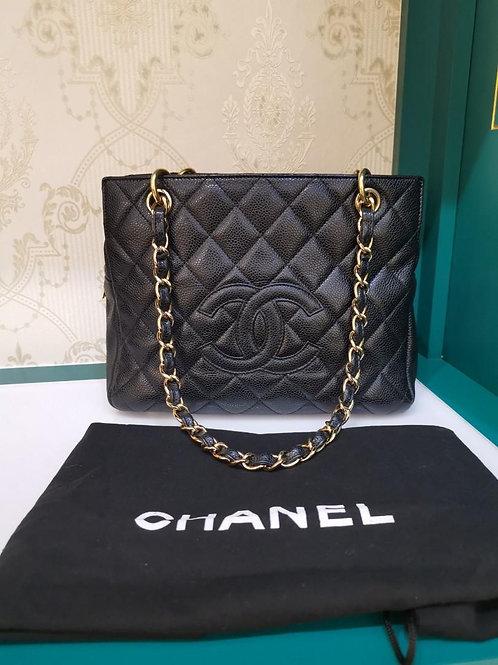 #13 Excellent Chanel PTT BLACK Caviar GHW