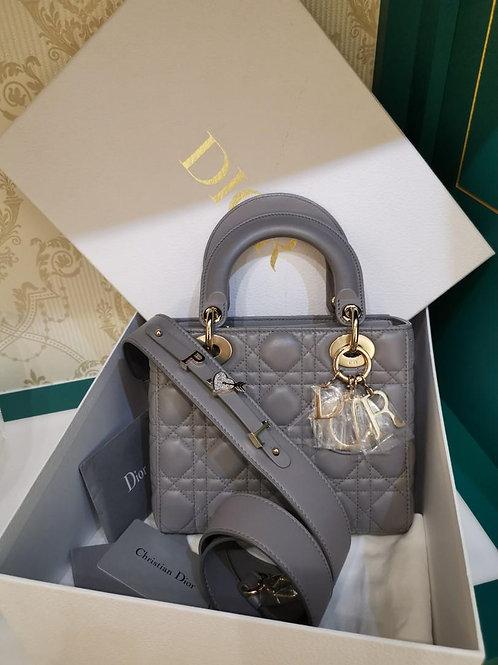 BNIB Lady Dior My ABCDior Grey Lamb Light GHW