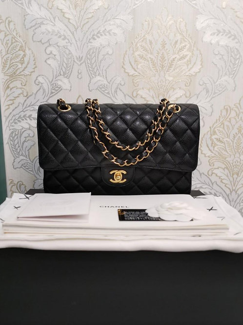 #25 LNIB Chanel Classic Double Flap Medium Caviar with GHW