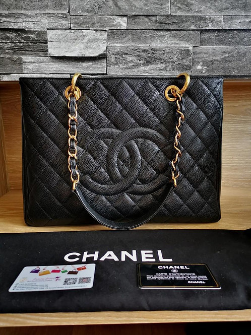 #18 Like New Chanel GST Black Caviar with GHW