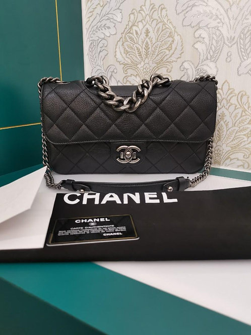 #21 Like New Chanel Perfect Edge Black Calfskin with RHW