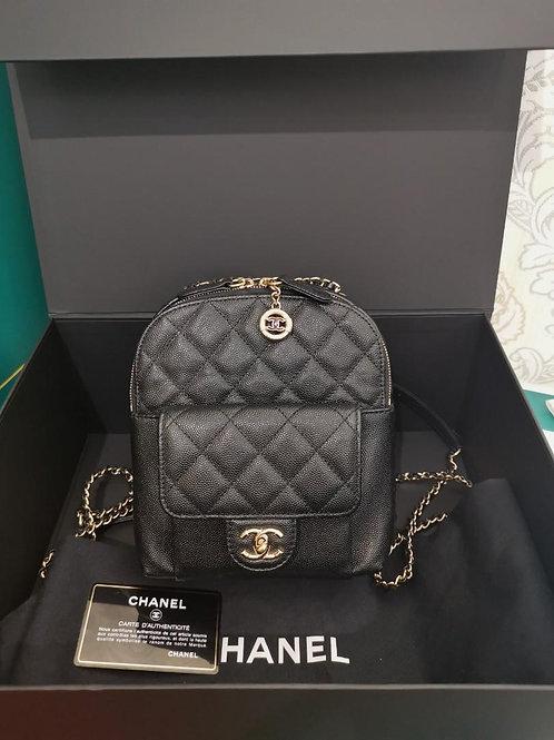 #26 LNIB Chanel Backpack Mini Caviar Light GHW