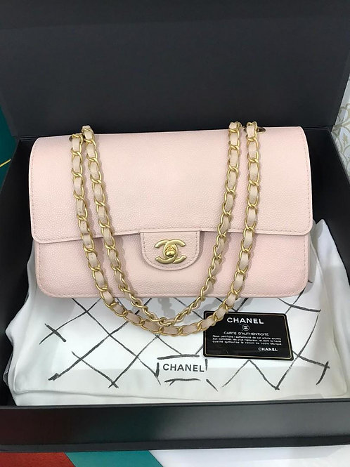 #24 LNIB Chanel limited Classic Double Flap Pink caviar with matte GHW