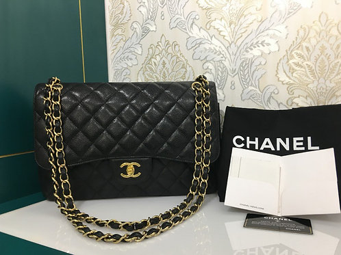Chanel Jumbo Classic Double Flap Black Caviar with GHW