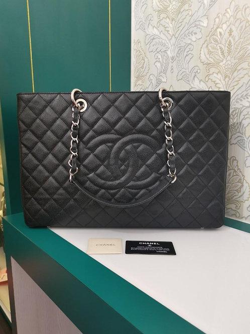 #16 Chanel GST XL Black caviar SHW
