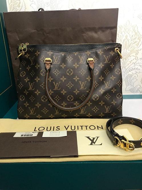 LV Louis Vuitton Pallas MM Monogram Noir