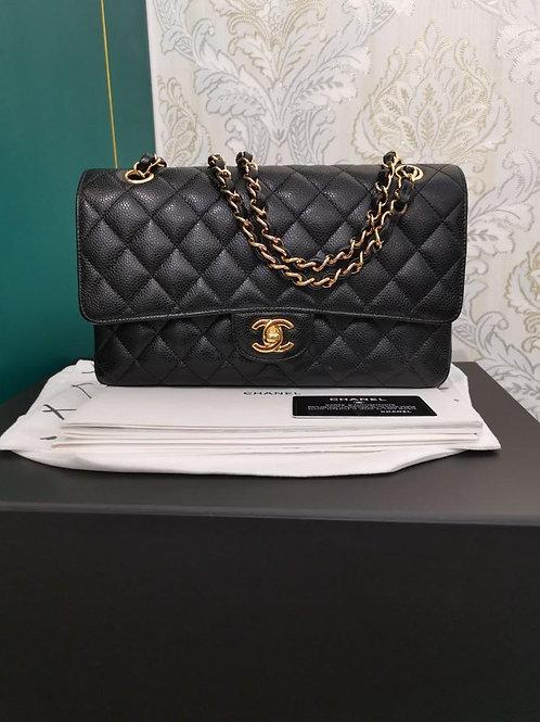 #26 LNIB Chanel Medium Classic Double Flap Black Caviar with GHW