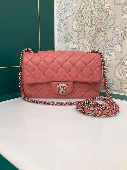 #18 Chanel Mini Rectangular Pink Lamb SHW