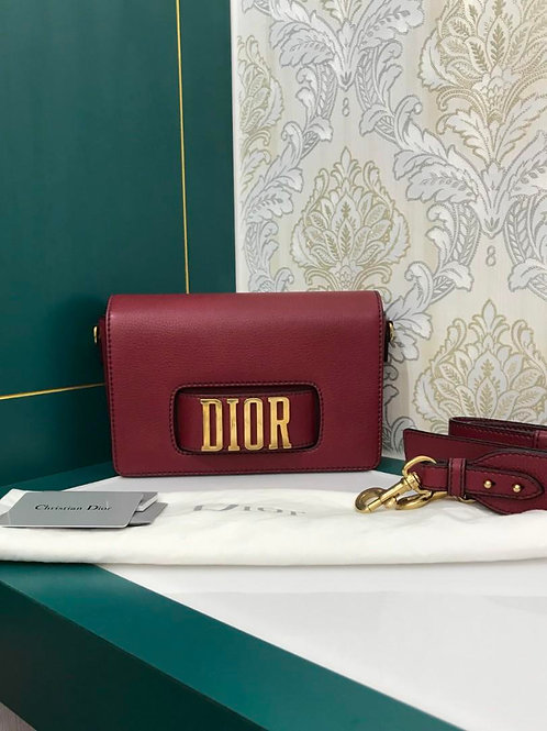 Like New Dior Revolution bag medium Dark Red Grained Calf with GHW